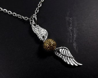 HP Snitch Necklace and Earrings