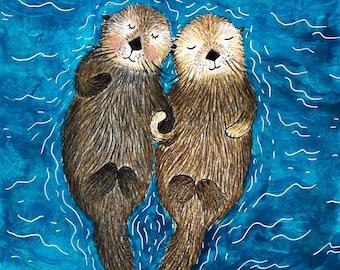Otters Etsy