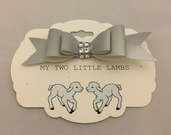 silver hair biw, first birthday bow, toddler girl hair bow, botique hair bow,little girl bows