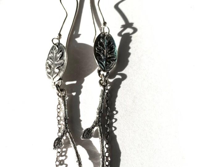 Oak Leaf Earrings #1