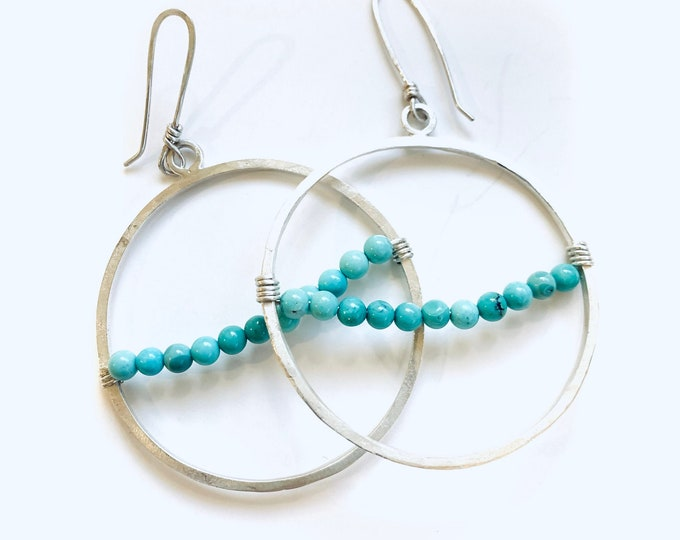 Everyday Turquoise hoops #1