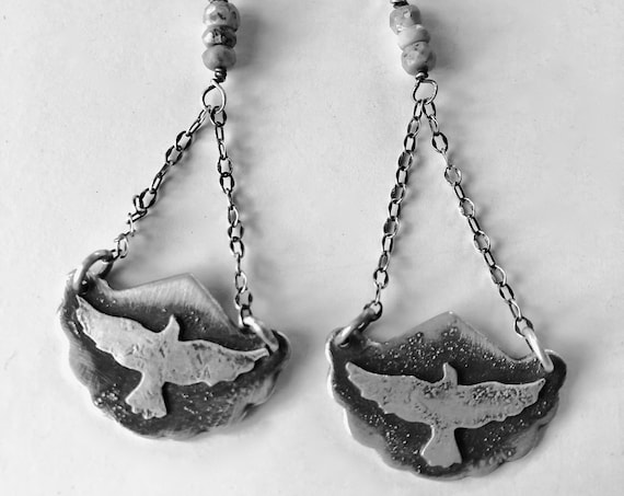 Birds Flying High Earrings #1