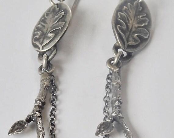 Oak Leaf Earrings #2