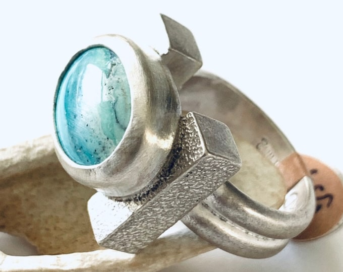 Indo Opal Wood Ring #1