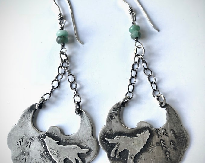 Howling Wolf Boho Earrings#1