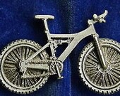 Full Suspension Mountain Bike Pin Made of Pewter Custom Made in the USA