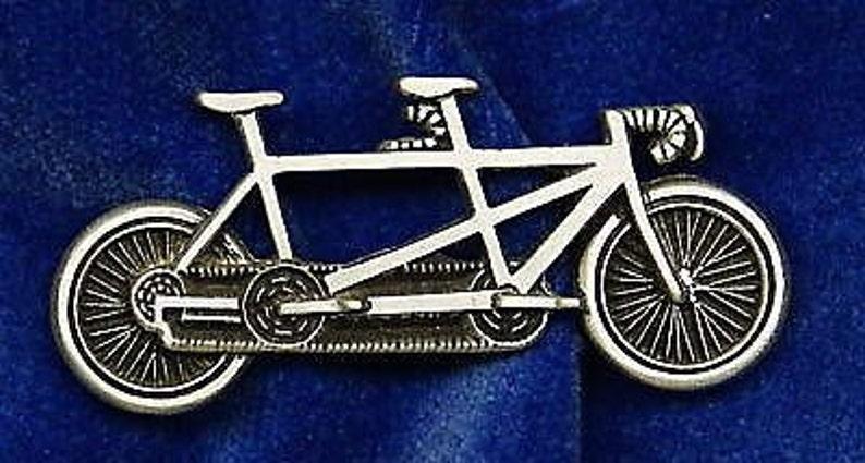 Bicicletta Tandem Pin Perno Tappo Fatto Di Peltro Custom Made In Usa