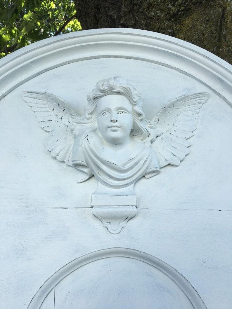 Antique Queen Size Angel Headboard