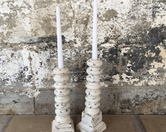 Wooden Candlestick Holders