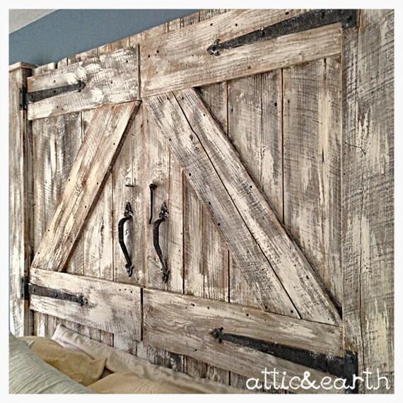 Barn Door Headboard And Footboard Etsy