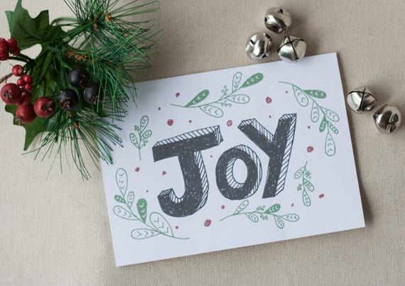 Holiday card joy instant download cute christmas card etsy image 0 m4hsunfo