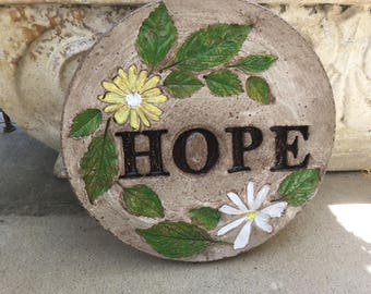 "9 in. "" HOPE"" concrete stepping stone/garden stone"