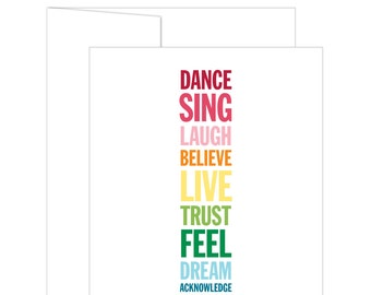 Phenix Signature: Dream // Greeting Card - Inspirational and Motivational Greeting Card - Inspirational Print