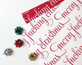 funny christmas wrapping paper etsy - Funny Christmas Wrapping Paper