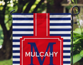 Garden Flag - Personalized Garden Flag - Monogram Flag - Personalized Yard Flag - RV Flag - Wedding Gift - Housewarming - Double Sided Flag