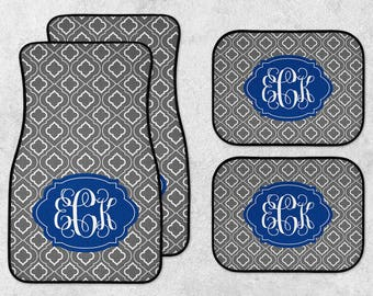New Car Floor Mats - Monogram Car Mats - Personalized Car Mats - Custom Car Mats - Initials Car Mats - Full Set Car Mats - New Driver Gift