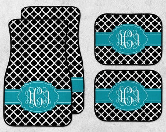Personalized Car Mats - New Car Floor Mats - Monogram Car Mat Set - Preppy Car Mats - Custom Car Mat Set - Full Set Car Mats - New Driver