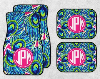 Watercolor Car Mats - Personalized Car Mats - Monogram Car Mats - New Car Floor Mats - Preppy Car Mats - Full Set Car Mats - New Driver Gift