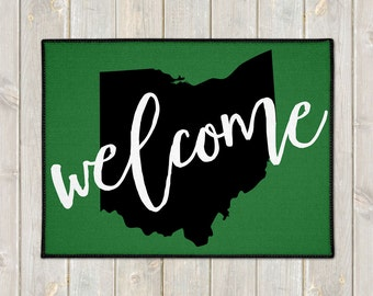 Custom Welcome Mat - State Door Mat - Welcome Door Mat - Custom Doormat - Indoor Outdoor Mat - Wedding Gift - Housewarming Gift - New Home