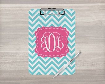 Personalized Clipboard - Monogram Clipboard - Coach Clipboard - Nurse Clipboard - Teacher Gift - Custom Clip Board - Double Sided Clipboard
