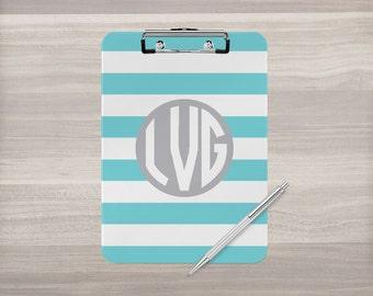 Personalized Clipboard - Monogram Clipboard - Stripe Clip Board - Nurse Clipboard - Teacher Gift - Coach Clipboard - Double Sided Clipboard
