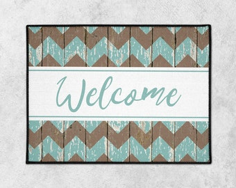 Custom Welcome Mat - Farmhouse Door Mat - Custom Doormat - Rustic Doormat - Indoor Outdoor Mat - Housewarming - New Home Gift - Wedding Gift