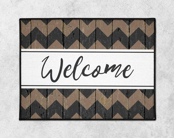 Custom Welcome Mat - Custom Doormat - Farmhouse Door Mat - Rustic Doormat - Indoor Outdoor Mat - Wedding Gift - Housewarming - New Home Gift