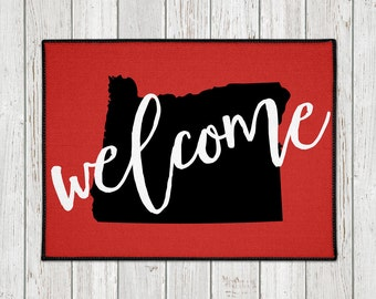 Welcome Door Mat - Custom Doormat - Custom Welcome Mat - State Door Mat - Indoor Outdoor Mat - Wedding Gift - Housewarming Gift - New Home