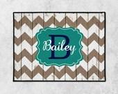 Personalized Doormat, Monogrammed Door Mat, Chevron Door Mat, Welcome Mat, Rustic Rug, Housewarming, Farmhouse Mat, Realtor Gift, Wedding
