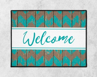 Custom Welcome Mat - Custom Door Mat - Rustic Doormat - Farmhouse Doormat - Indoor Outdoor Mat - Wedding Gift - Housewarming - New Home Gift