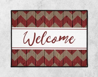 Custom Doormat - Custom Welcome Mat - Front Porch Decor - Farmhouse Door Mat - Rustic Doormat - Indoor Outdoor Mat - New Home - Wedding Gift