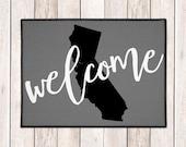 Custom Welcome Mat - Welcome Door Mat - Custom Doormat - State Door Mat - Indoor Outdoor Mat - Housewarming Gift - New Home - Wedding Gift