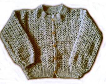 Beige crocheted vest 4t