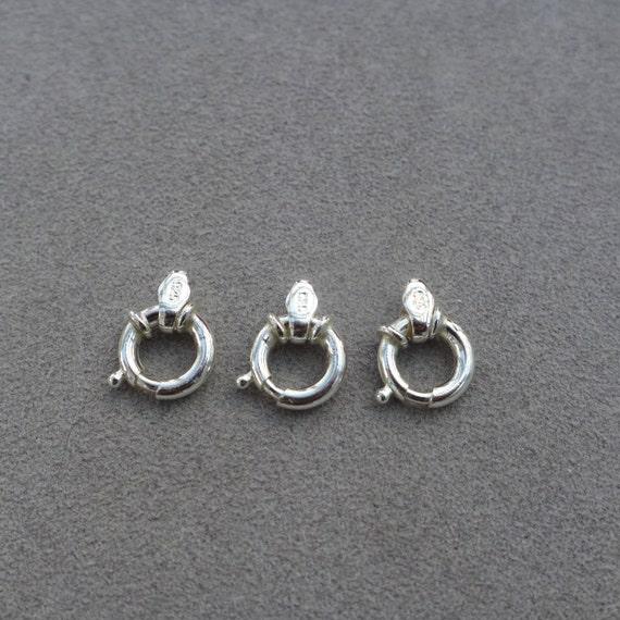 3pcs, 925 argent argent 925 Sterling printemps anneau fermoir connecteur DIYs bijoux artisanat, faire, prix de gros résultats 35bbe2