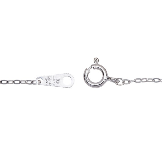 18K White Gold,750,6,6.5,7,7.5,8,8.5,9,10,1.2 mm Flat Cable Chain Bracelets and Anklets