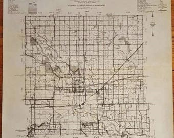 Polk City Iowa Map.Vintage Original City Map Of Karak Jordan Land Survey Etsy