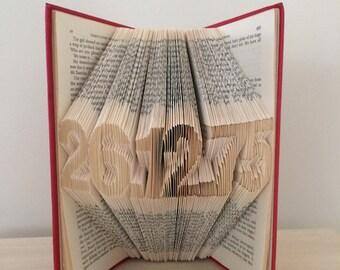 Folded Book Art - Custom Date