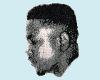 Kendrick Lamar Embroidered Portrait Pin