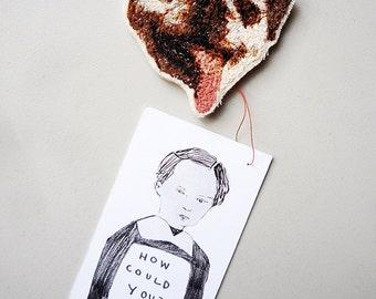 Custom Embroidered Pet Portrait pin, hanky, or tea towel!