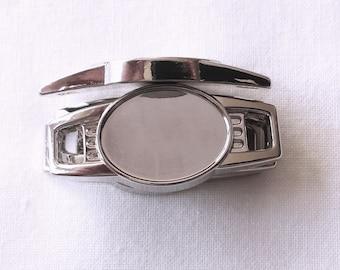 100 pcs Blank Oval Shoelace Paracord Charms 16 x 12mm w/ Epoxy Sticker Survival Bracelets