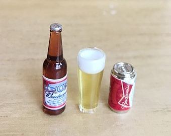 Dollhouse Miniature Handcrafted Coors Light Beer Bottle