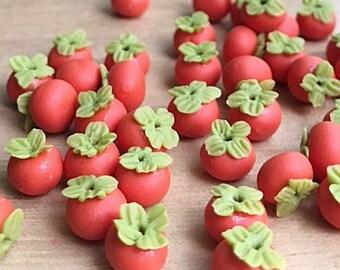 Dollhouse Miniatures Food Lot 50 Loose Persimmon Fruit 3948
