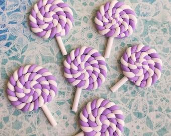 2 pcs.26x38mm.Miniature Lollipop Cabochon,Miniature Lollipop Minnie,Cabochon,Miniature Sweet,Mobile Accessories,Rainbow