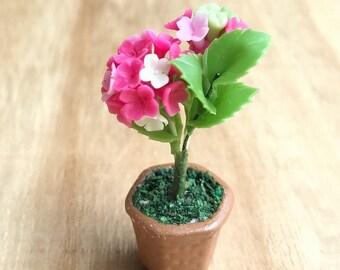 Miniature Flower,Miniature Flower Pot,Miniature Vase,Dollhouse Flower,Miniature Garden,Dollhouse Flower Pot,Miniature Hydrengea