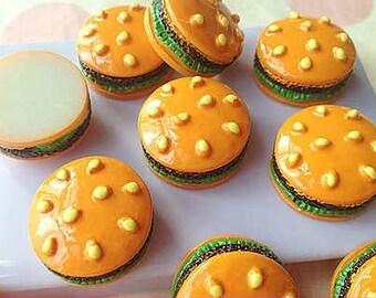 11x20mm.Miniature Cabochon Hamburger,Miniature Cabochon Burger ,Cabochons,Resin,Miniature Sweet,Miniature Cabochon,DIY,Mobile