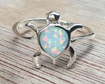 Miniature Turtle,Miniature Turtle Rings,Miniature Turtle Silver Rings,925 Silver Rings,Turtle Ring,Opal Rings,Silver Ring,girl rings