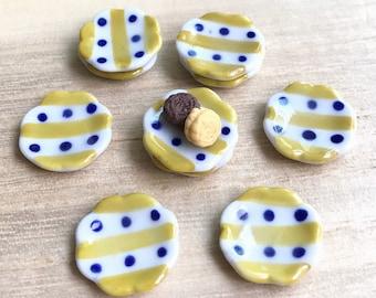 5 pcs.Miniature Plate,Ceramic Plate  Miniature,Miniature food plate,Miniature bakery plate,Dollhouse Plate,Dolls Accessories
