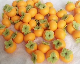 Miniature Persimmon,Miniature Fruit,Dolls House and Miniature,Miniature foods,Persimmon,Miniature Sweet,Miniature Accessories,Dolls House