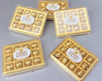 Miniature Chocolate Box,Miniature Plastic Box,Miniature Chocolate,Miniature Ferrero,Dollhouse Chocolate,Dollhouse Box,Miniature Sweet