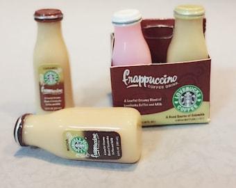 Miniature Starbuck Paper Box and 2 pcs Ice Starbuck Coffee,Miniature coffee cup Starbucks,Miniature Coffee,Dollhouse Starbucks,Coffee